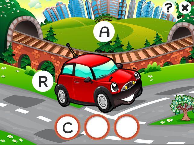 Gambar Lori Mewarna Bernilai Abc Kereta Permainan Untuk Kanak Kanak Belajar Menulis Perkataan