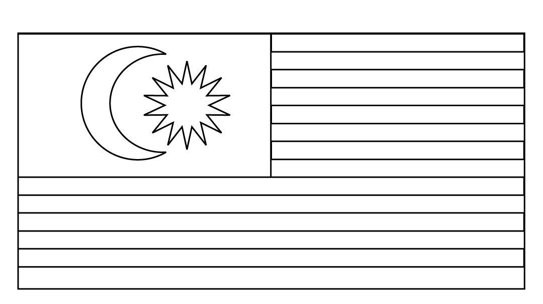 Gambar Mewarna Bendera Malaysia Hebat Bendera Malaysia Gambar Mewarna Colouring Picture