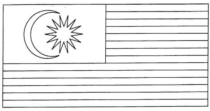Gambar Mewarna Bendera Malaysia Meletup Bendera Malaysia Gambar Mewarna Colouring Picture Hari