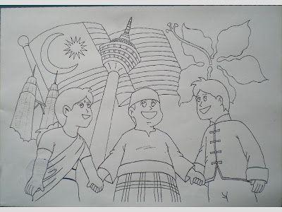 murid tahun satu kyusu mewarna lukisan asal tanpa warna
