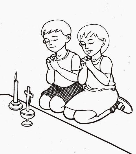 Gambar Mewarna Berdoa Penting Mewarnai Gambar Anak Sedang Berdoa Q Warna