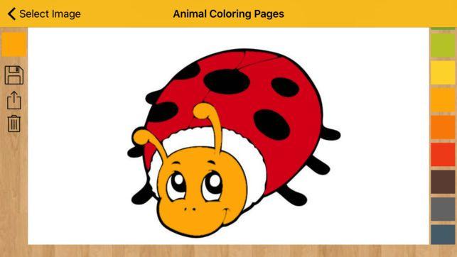 halaman pewarna haiwan buku mewarna di app store