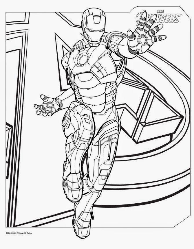 Gambar Mewarna Iron Man Penting Mewarnai Gambar Mewarna Gambar Superhero Avenger Ironman