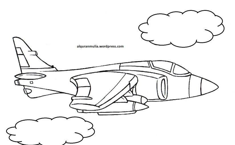 gambar mewarnai kaligrafi anak tk koleksi mewarnai gambar pesawat