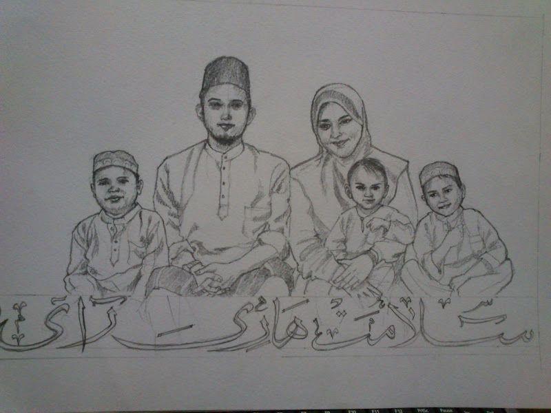 Gambar Mewarna Keluarga Saya Meletup Anak Haji Amir Mari Melukis Episod Buat Kad Raya