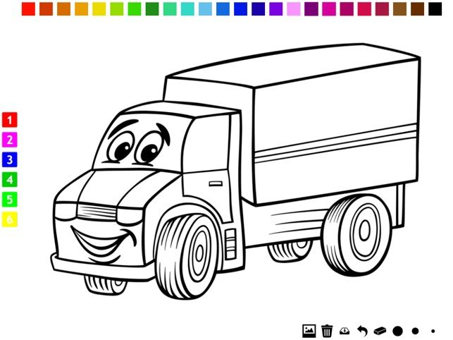 Gambar Mewarna Lori Terbaik A Cars Coloring Book for Boys Learn to Color Pictures Of Vehicles