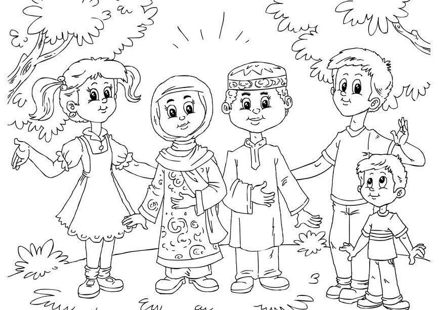 Gambar Mewarna Muslimah Penting Contoh Gambar Untuk Mewarnai Anak Muslim Terbaru Gambarcoloring