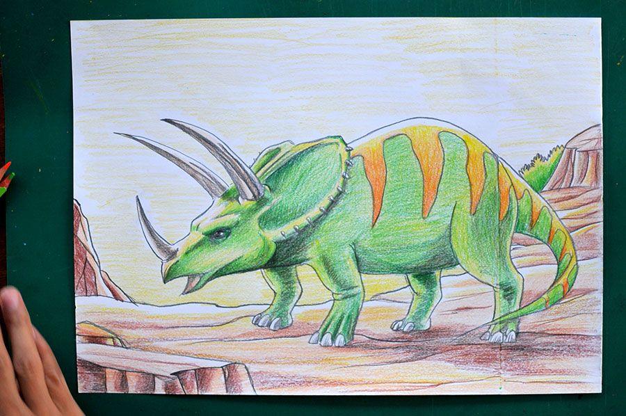 anak anak sangat senang dengan kegiatan menggambar mewarnai ada berbagai langkah mudah cepat untuk menggambar dinosaurus dengan pensil warna
