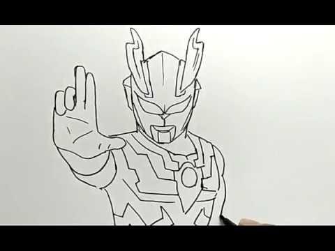 Gambar Mewarna Pensil Terbaik Cara Menggambar Ultraman How to Draw Ultraman Youtube