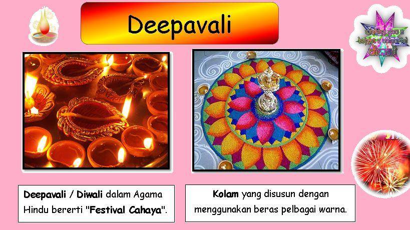 Gambar Mewarna Perayaan Deepavali Bernilai Cikgu Zuraini