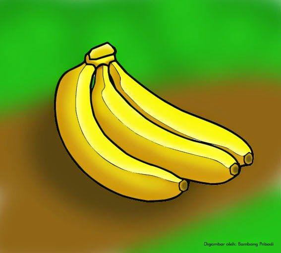 mewarnai buah pisang 1 6