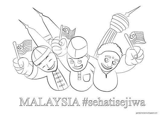 Gambar Mewarna Sayangi Malaysiaku Bernilai Dapatkan Pertandingan Mewarna Hari Kemerdekaan Yang Hebat Dan Boleh