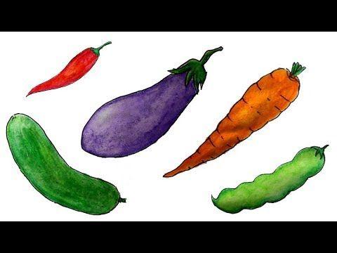 Gambar Mewarna Sayur Sayuran Meletup Cara Menggambar Sayur Sayuran Yang Mudah Youtube