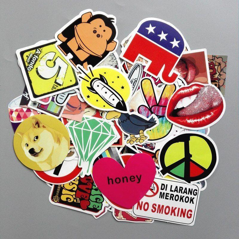 poster dilarang merokok kartun terbaik 50 pcs set graffiti sticker mode ekspor perdagangan luar negeri