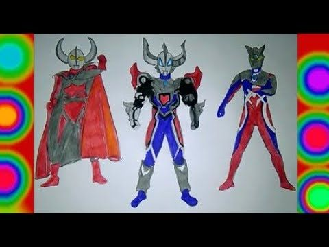 ultraman geed magnificent colors ultraman zero fusion ultraman ultra father coloring pages