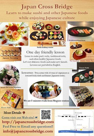 cooking class japan cross bridge our poster and brochure