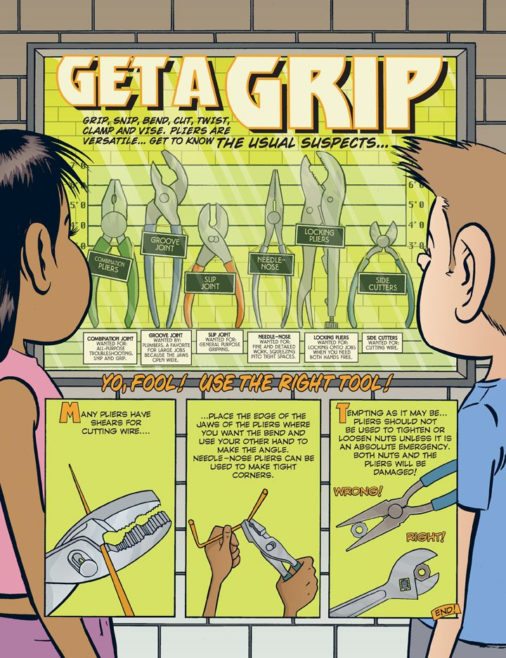 Infographic Poster Terbaik Get A Grip Howtoons Poster is A Good Resource for Introducing tools