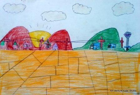 Kertas Lukisan Aktiviti Mewarna Untuk Kanak-kanak Penting Dapatkan Kertas Mewarna Pemandangan Kampung Yang Berguna Dan Boleh