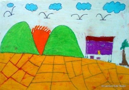 Kertas Lukisan Mewarna Hari Kanak-kanak Menarik Lukisan Kanak Kanak Art Venture Kids Studio