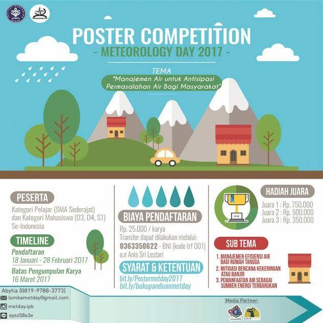 Lomba Desain Poster Terbaik Lomba Desain Poster 2017 Di Ipb Info Lomba 2019 Terbaru