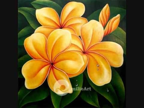 lukisan bunga milieart