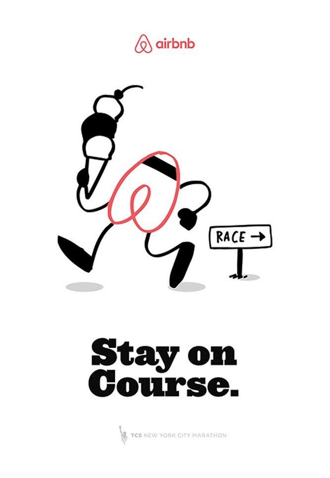 new york marathon airbnb poster illustration