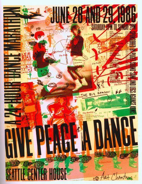 art chantry type design milton glaser massimo vignelli dance marathon seattle