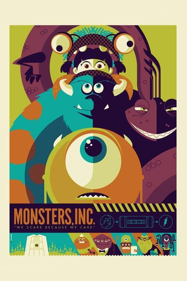 Minimalist Poster Baik Monsters Inc Boo Minimalist Ecosia