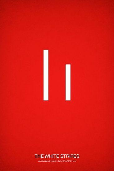 music minimalist poster the white stripes