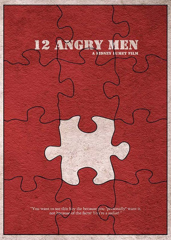 12 angry men version 2 minimalist alternative movie print poster