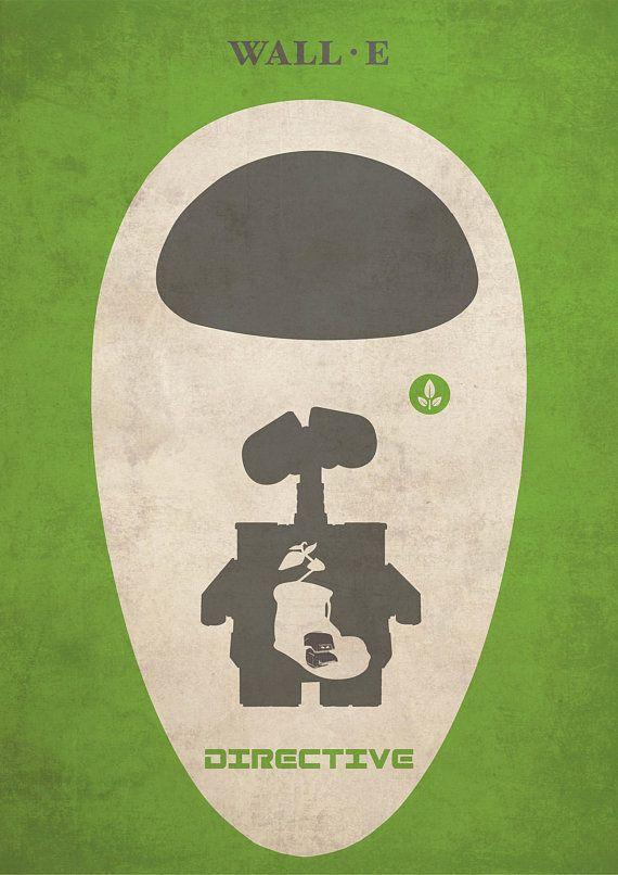 walla e animation minimalist poster alternative movie print disney and pixar collection home decor ci