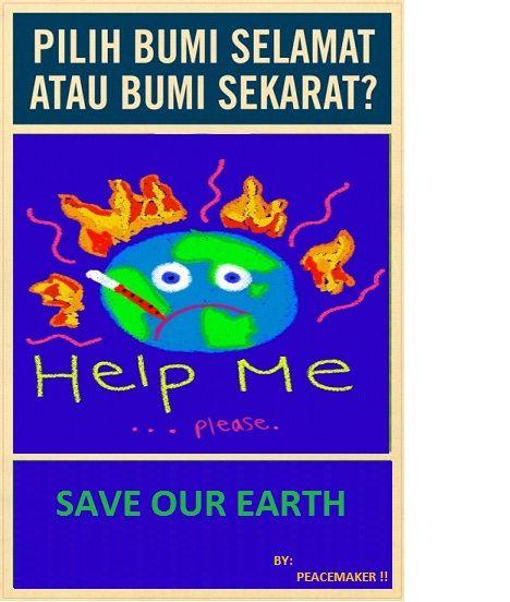 selamatkan bumi kita poster