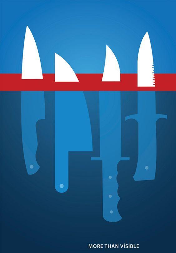 knifeberg poster design by ali tomak