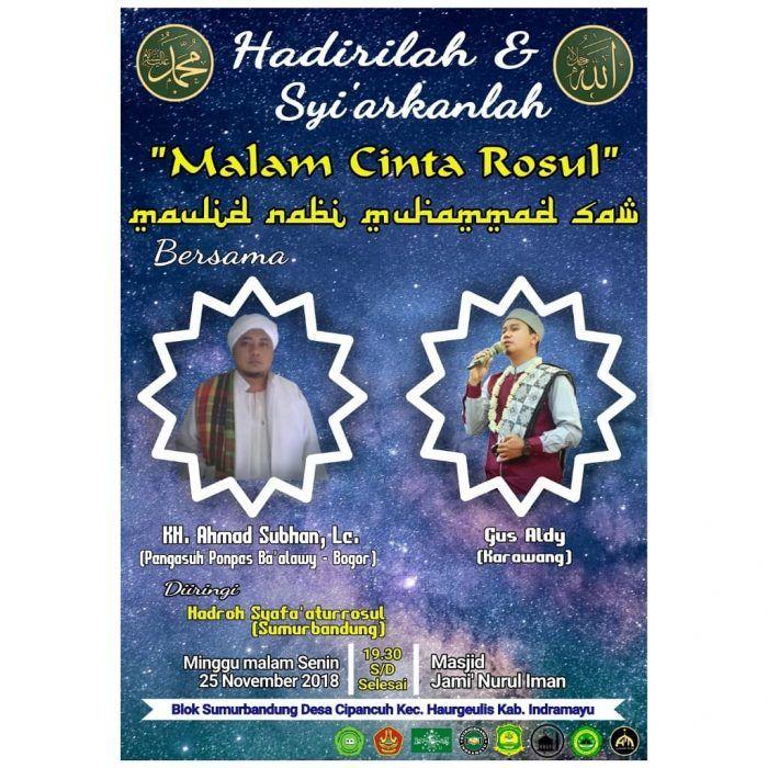 Poster Maulid Nabi Berguna Malam Cinta Rosul Maulid Nabi Muhammad Saw Majelis Info
