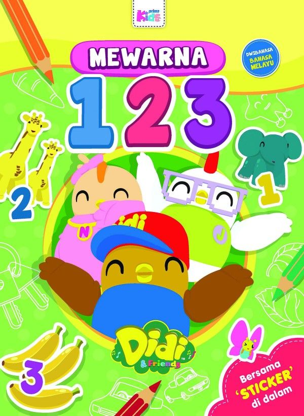 Poster Mewarna Didi and Friends Baik Mphonline Mewarna 123 Bersama Didi Friends