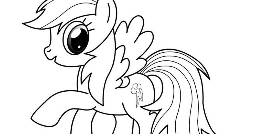 gambar kartun mewarna boboiboy hebat mewarnai kuda poni rainbow dash b warna