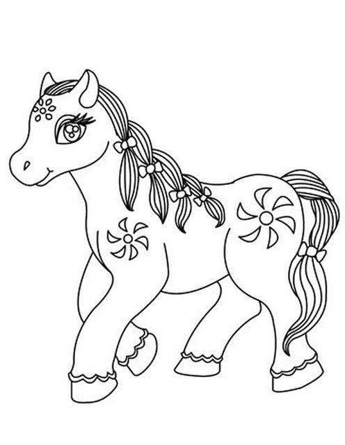 aneka gambar mewarnai gambar mewarnai kuda poni untuk anak paud dan tk