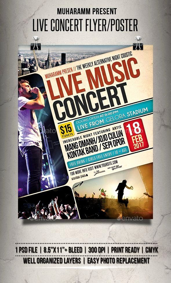 free concert flyer template new trifold brochure template illustrator inspirational a4 tri fold