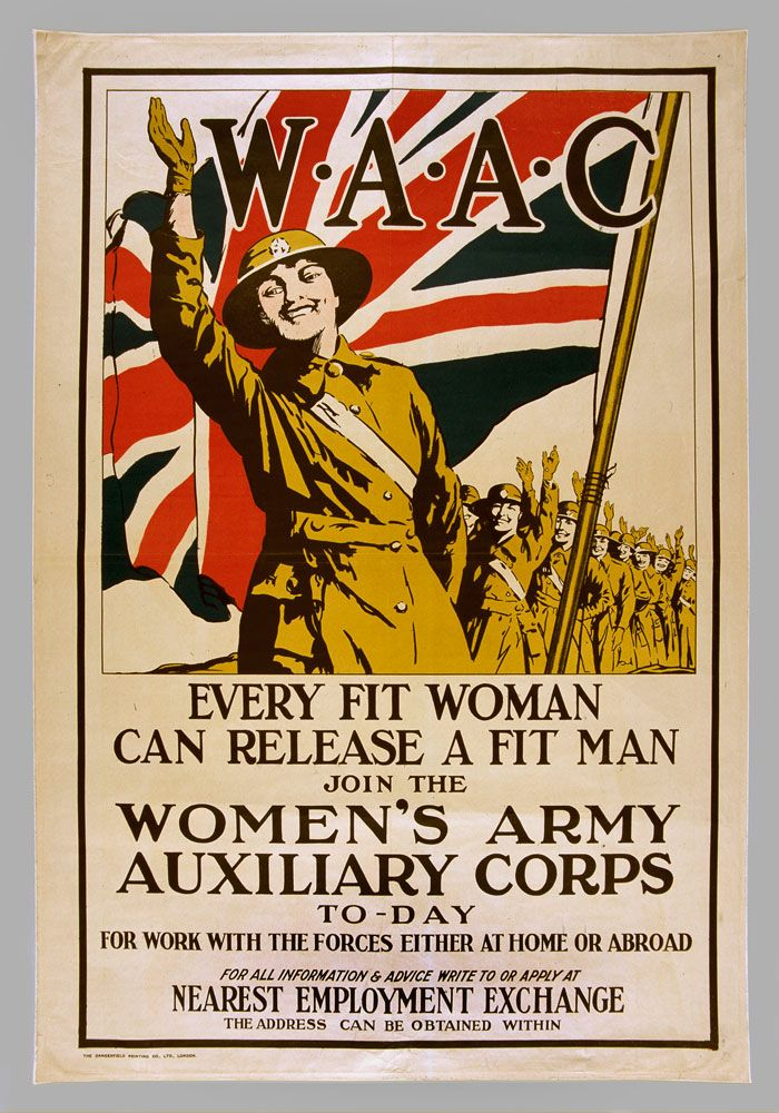 w a a c every fit woman can release a fit man 1918 c