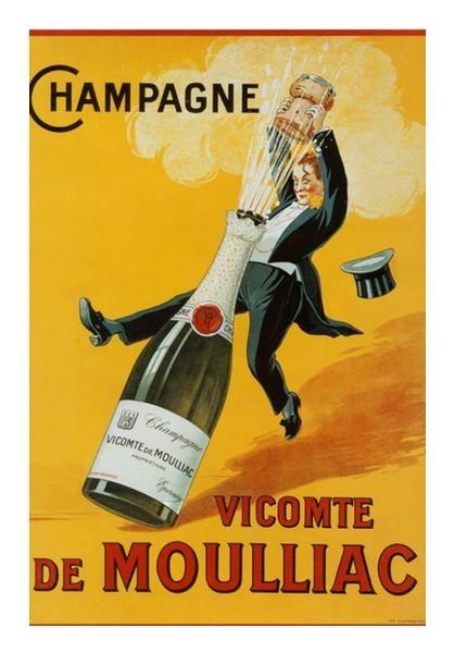 Propaganda Poster Terhebat Vintage Champagne Poster Wall Art Artist Gabambo Postergully