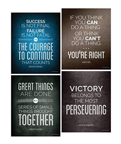 amazon historical quote motivational posters success wall art graphic design posters for sale