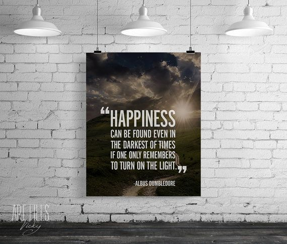Wall Poster Power Harry Potter Printable Albus Dumbledore Quote Printable Harry