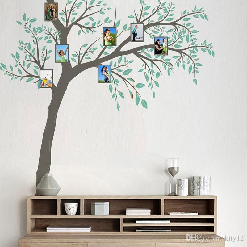 new family photo frame tree wall sticker home decor living room bedroom wall decals poster home