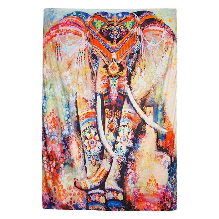 Gambar Gajah Terhebat Jual Kain Mandala Gambar Gajah India Psychedelic Hippie Untu