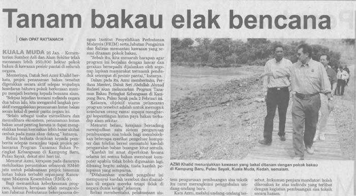tanam bakau elak bencana utusan malaysia