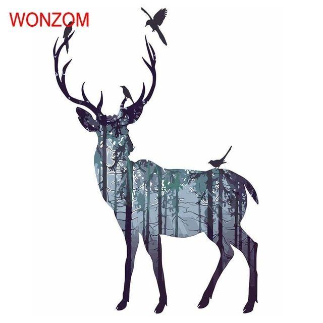 hewan hutan rusa lukisan dengan angka di atas kanvas cuadros decoracion menggambar dengan angka mewarnai gambar