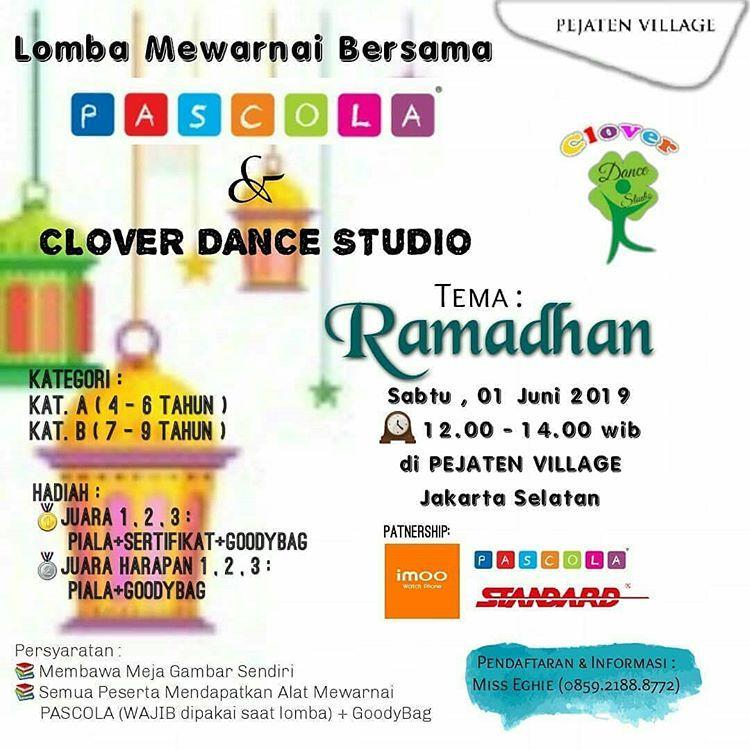 clover dance studio bersama pascola mengadakan event lomba mewarnai lombamewarnaianak lombaanaktk lombajkt
