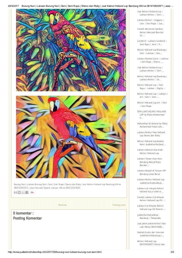 3 26 9 2017 burung nuri lukisan