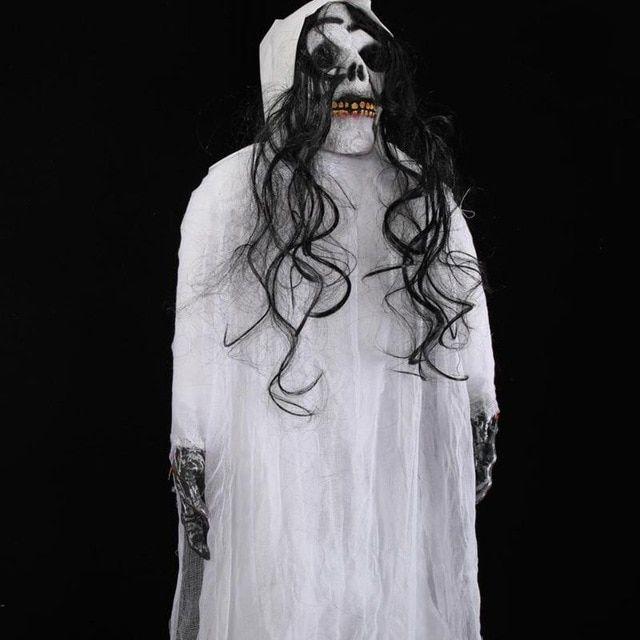 Gambar Mewarna Burung Puyuh Hebat Boneka Halloween Alat Peraga Menyeramkan Tengkorak Hantu Gantung