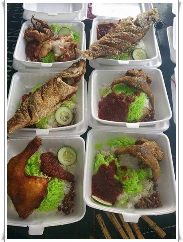 foto kredit to page fb warung nasi lemak cik chom
